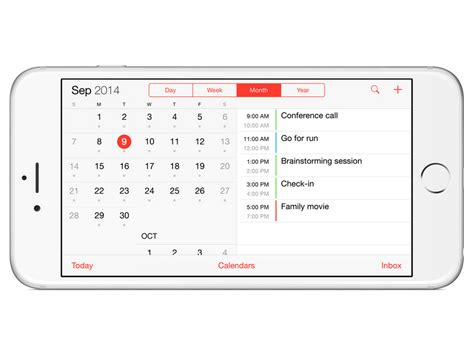 Best Calendar App For Iphone 6 Tech Explained Here S How The Iphone 6 S New Bigger