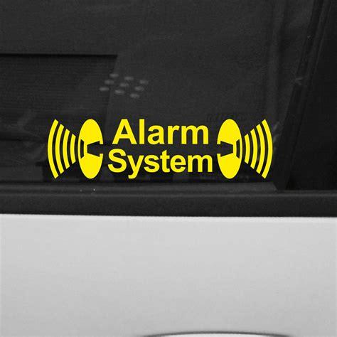 Aufkleber Entfernen Autoscheibe by 2 St 252 Ck Alarm System Auto Haus Fenster Scheibe Aufkleber