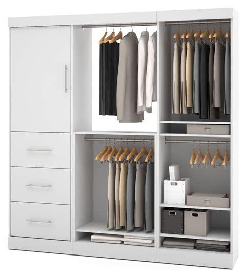nebula white 80 storage wardrobe from bestar 25850 17