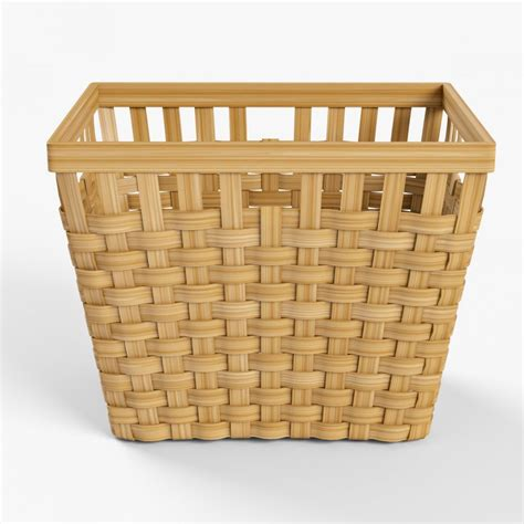 ikea wicker baskets wicker basket ikea knarra 2 natural color 3d model cgstudio