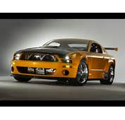 Ford Mustang In Black On Road