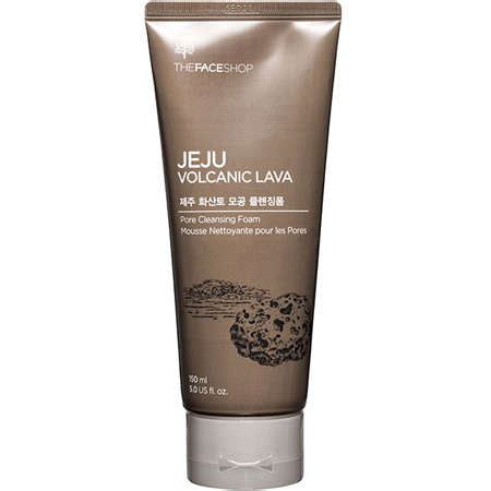 harga the shop jeju volcanic lava pore cleansing foam