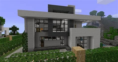 One Story House Designs Modern House 3 Beach Town Project Minecraft Project