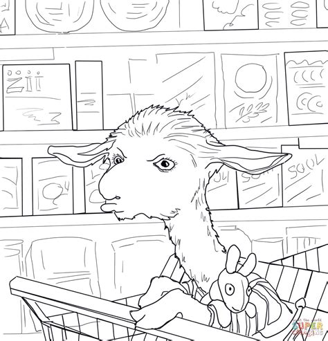 llama llama mad at mama coloring page free printable
