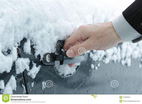 opening a frozen car door stock images image 12450534