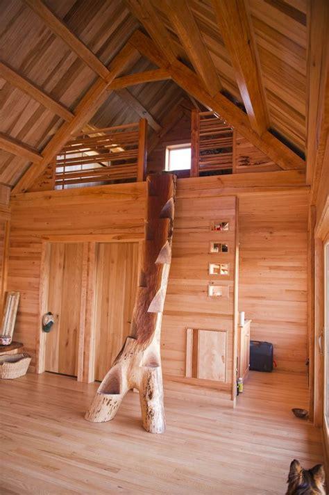 tree tiny cabin loft cabin loft tiny house stairs