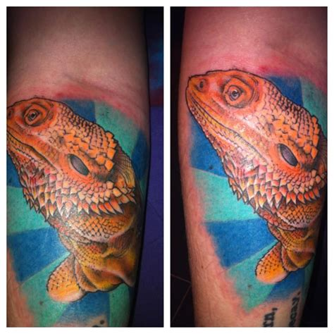 bearded dragon tattoo bearded done by at rocket in