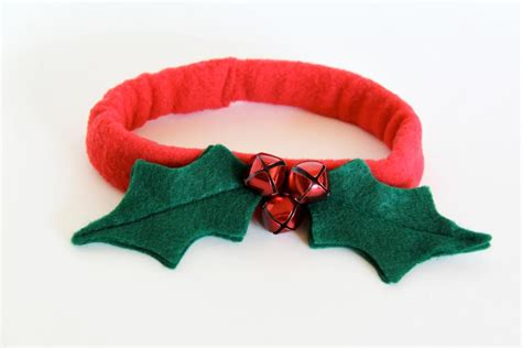 holly leaf christmas dog collar diy