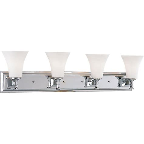 4 Light Chrome Vanity Fixture by Progress Lighting Fairfield Collection 4 Light Chrome