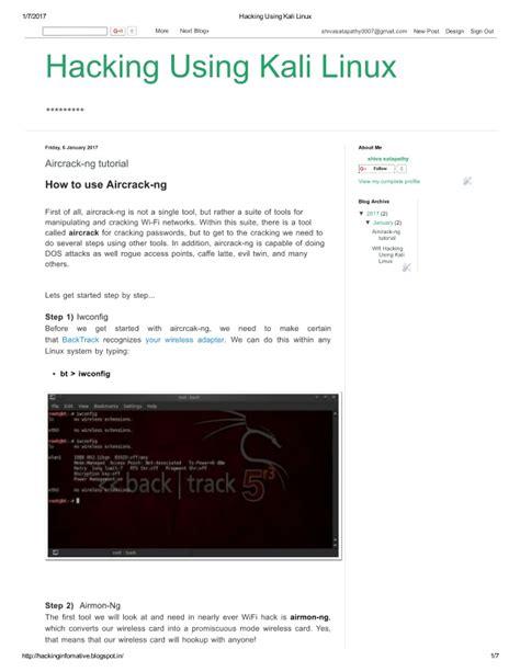 kali linux tutorial hack pdf hacking using kali linux