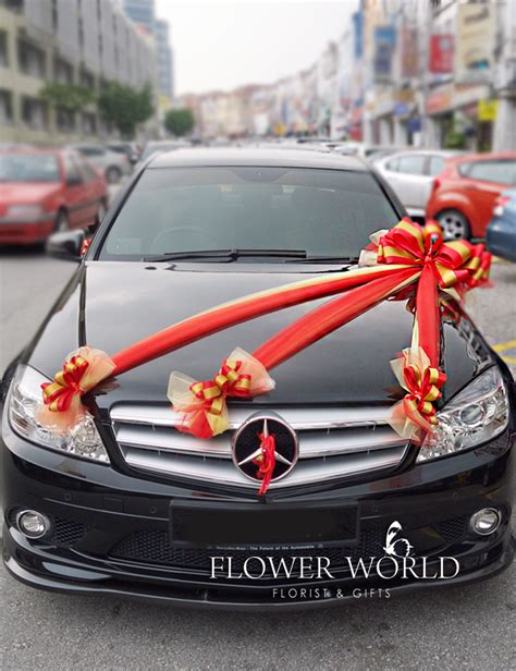 Wedding Car Deco by Car Deco Ribbons For Car Car Decoration Wedding Cars
