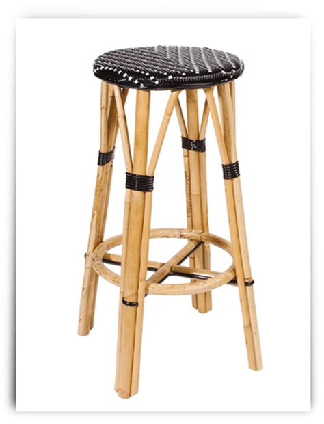 parisian bar stools french bistro backless barstool black cream