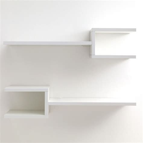mensole da parete coppia mensole frequency b da parete in legno bianco 75 cm