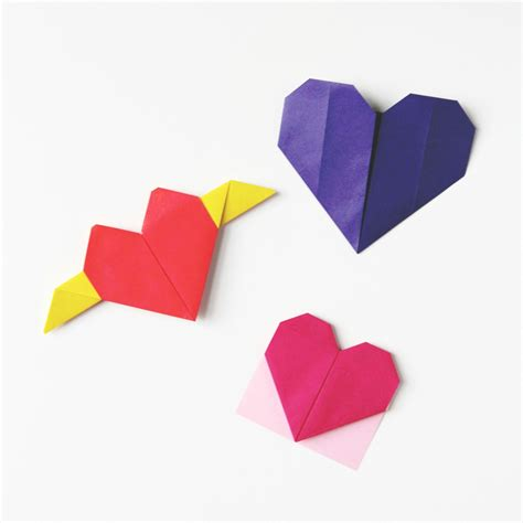 Hearts Origami - how to make an origami gathering