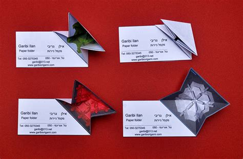 Origami Card Designs - 20 beautiful creative business card design ideas for