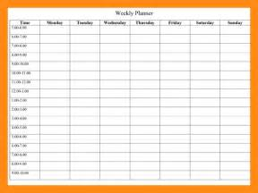 6 week calendar template 6 weekly schedule template actor resumed
