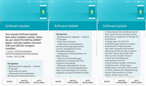 Samsung S6 Update galaxy s6 and s6 edge nougat updates start appearing in europe