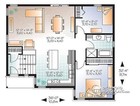 split level open floor plan house plan w3323 v3 detail from drummondhouseplans com