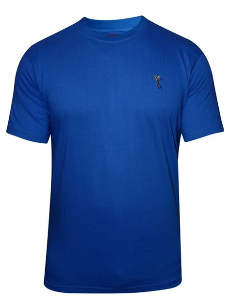 Blue Shirt 02 by Buy T Shirts Marion Roth Royal Blue Neck T