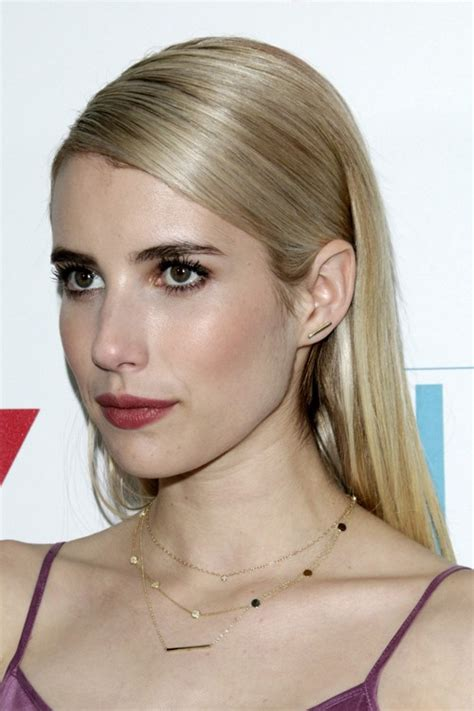 emma roberts straight ash blonde all over highlights