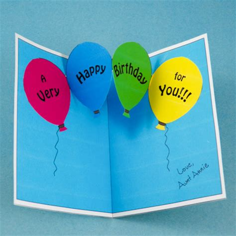 balloon pop up card template make birthday and invitation pop up cards pop up
