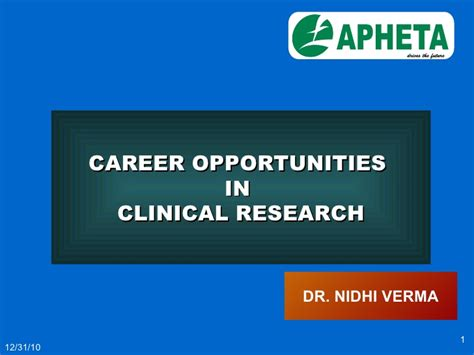 Mba In Clinical Research Management In India by Clinical Research Career
