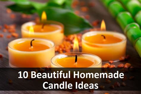 how to make decorative candles at home 10 beautiful homemade candle ideas