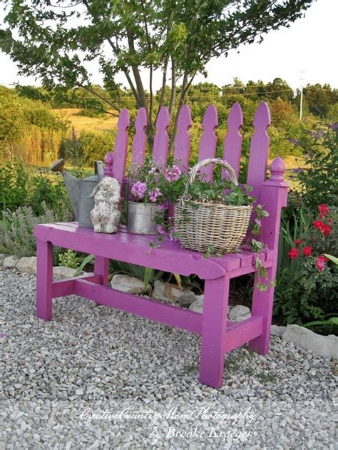 picket fence bench 15 awesome diy garden benches