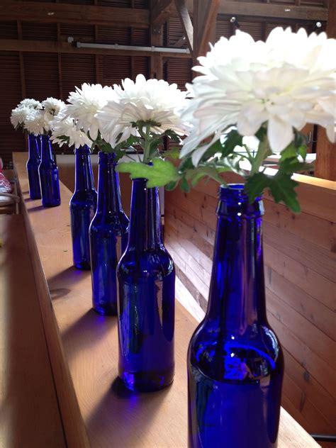 centerpieces for graduation bud light platinum bottles
