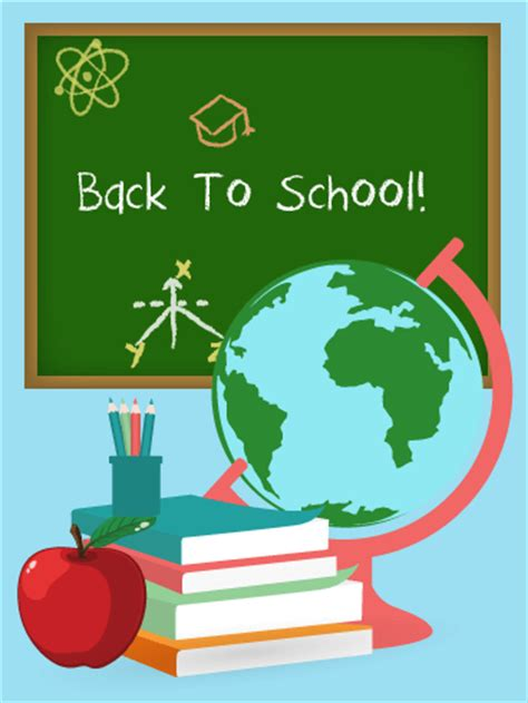 cards for school let s study back to school card birthday greeting