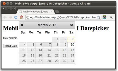 tutorial jquery datepicker mobile web app jquery ui datepicker