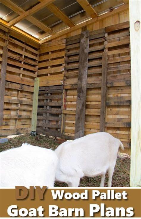 diy wood pallet goat barn great   repupose wood