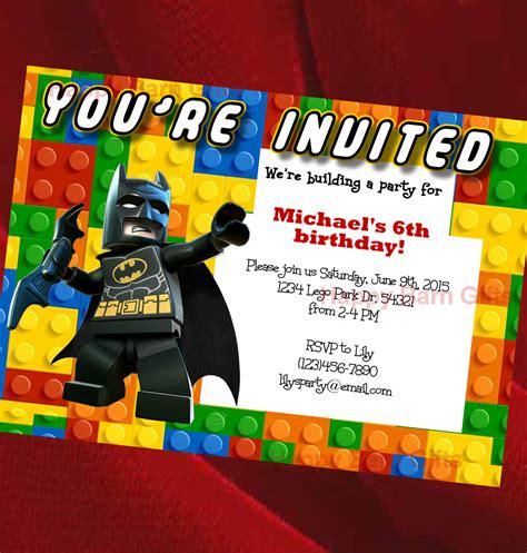 lego birthday invitations templates free lego birthday invitation lego lego batman by