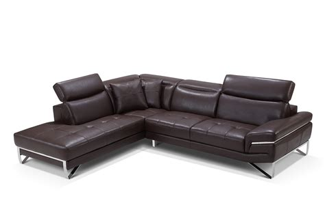 Curved Leather Sectional Sofa Stylish Curved Sectional Sofa In Leather With Pillows Corpus Christi Esf 2194