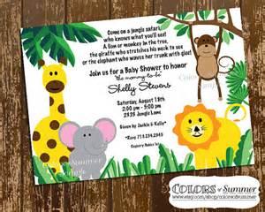 safari baby shower invitation jungle themed baby shower