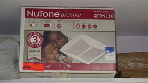 nutone premier bathroom fan nutone premier ultra silent ventilation fan model qtrn110