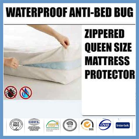 Buy Bed Bug Mattress Cover by Polyester Waterproof Bed Bug Zip Mattress Protector Cover