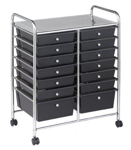 14 drawer mobile organizer ecr4kids 14 drawer mobile organizer smoke office supplies