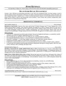 Example Resume For Retail Example Multi Store Retail Manager Resume Free Sample