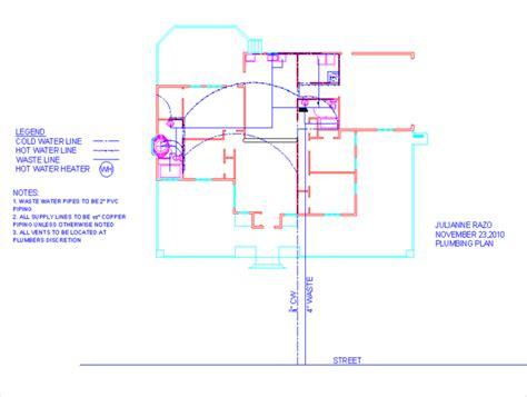 plumbing floor plan house design by julianne razo at coroflot com