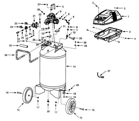 campbell hausfeld air compressor parts model wl