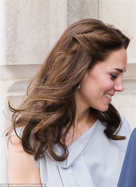 hair styles for back of kate middleton pins back her hair for a visit to hton