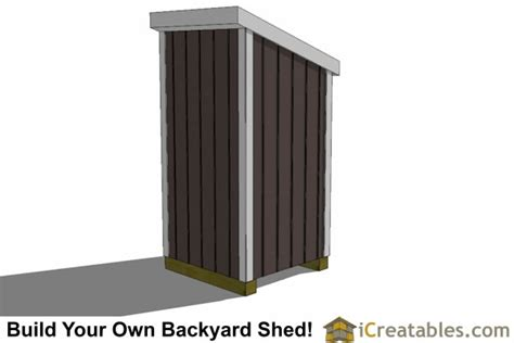 4 X 4 Shed by 4x4 Lean To Shed Small Shed Plans Garden Shed