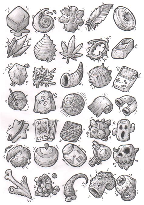 tattoo kit pathfinder sketches items by kupogames gear icons buttons equipment