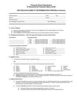 section 504 form section 504 eligibility determination form