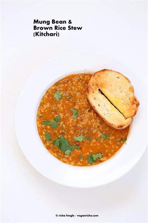 Detox Mung Bean Soup Recipe by Brown Rice Mung Bean Kitchari Mung Bean Stew Recipe