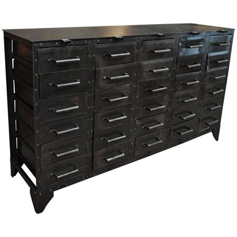 Iron Drawer by Industrial Iron Drawer Cabinet 1930s For Sale At 1stdibs