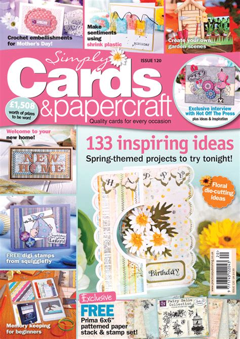 Cards And Papercraft Magazine - simply cards papercraft 120 on sale now