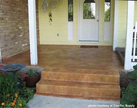 Brick Porch Floor by Concrete Flooring Staining Concrete Floors Front Porch
