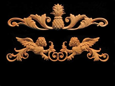 wood carved trim  decorative products corner blocks